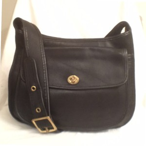 Coach Leather Vintage Black Messenger Bag