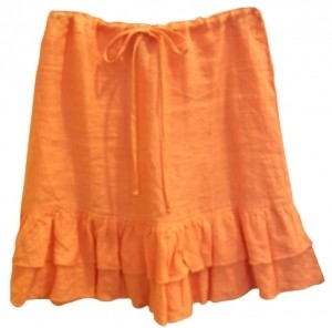 Juicy Couture 100% Linen Mini Skirt peach