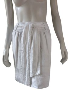 Banana Republic Knee Length Lined Career Skirt White