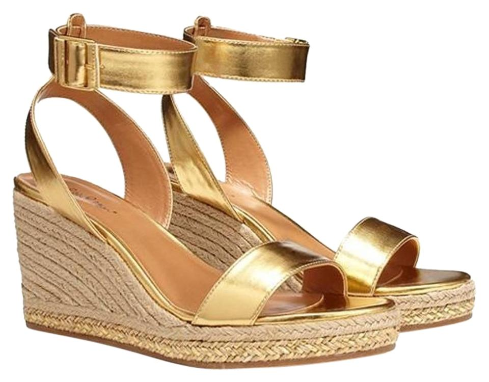 5dbf26e27a71c6 Lilly Pulitzer Gold For Target Wedge Espadrilles Sandals Size US 8.5 ...