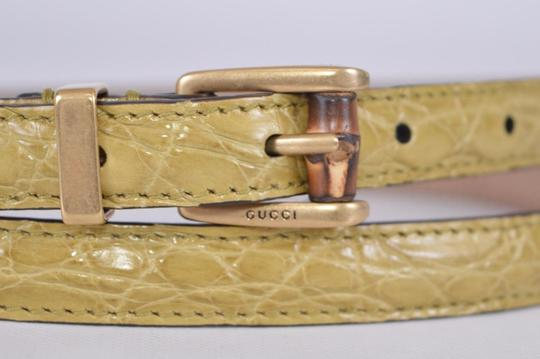 Gucci Alligator Embossed Leather Skinny