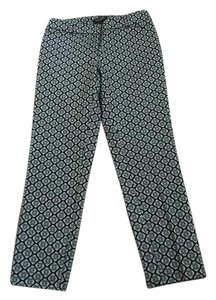 White House | Black Market Skinny Pants Black and White Print