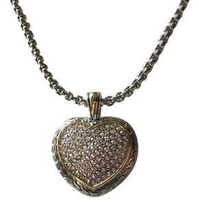 Nordstrom Heart Pave Cable necklace