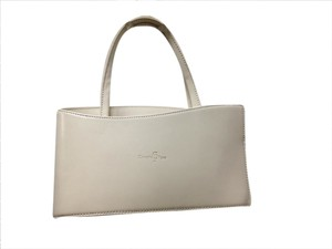 Concetta Pane Vintage Italy Tear Drop Chic Adorable Satchel in Beige