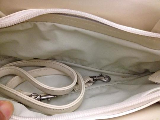 Concetta Pane Vintage Italy Tear Drop Chic Adorable Satchel in Beige Image 4