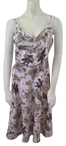 Tracy Reese short dress Pink Silk Floral Green on Tradesy