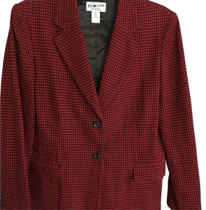 Pendleton Red and Black Blazer