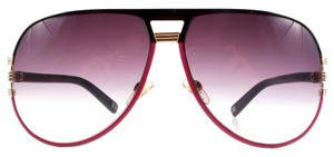 Dior PINK & BLACK AVIATOR SUNGLASSES - GOLD - GRAPHIX 2