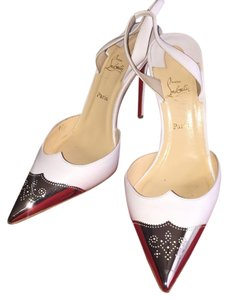 Christian Louboutin Calamijane White Pumps