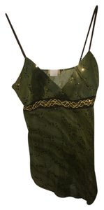 ezen Sequins Sheer Top green