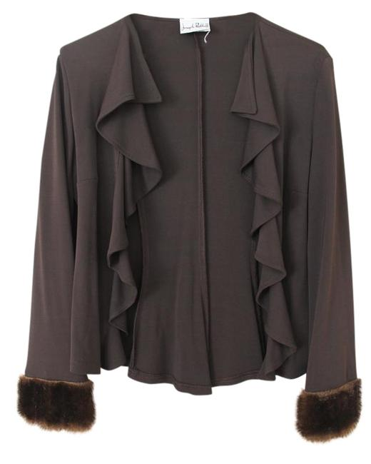 Preload https://img-static.tradesy.com/item/17831395/joseph-ribkoff-brown-adorned-cuff-open-ruffle-front-cardigan-size-6-s-0-1-650-650.jpg