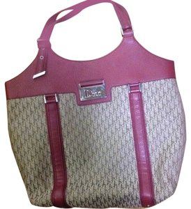 Dior Tote in Burgandy and Brown