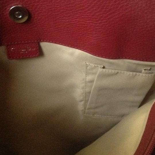 Dior Tote in Burgandy and Brown Image 3