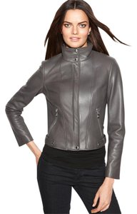 Calvin Klein Leather Moto Soft Lamb Motorcycle Jacket