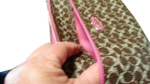 Coach BEUTIFUL Wristlet in Cho brown fusia