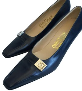 Salvatore Ferragamo Classic Darkest Blue Pumps