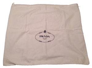 Prada Dust Cotton Designer Tote in White