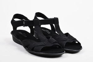 Sesto Meucci Suede Black Sandals