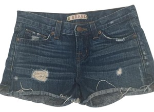 J Brand Denim Distressed Cut Off Shorts Medium Wash