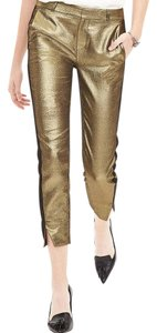 Banana Republic Straight Pants Gold