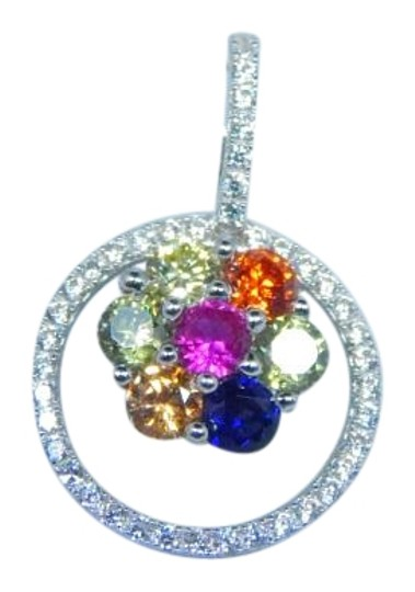 Preload https://img-static.tradesy.com/item/17833417/925-blue-pink-yellow-red-sterling-silver-oval-shape-princess-cut-rainbow-sapphire-pendant-multi-colo-0-1-540-540.jpg