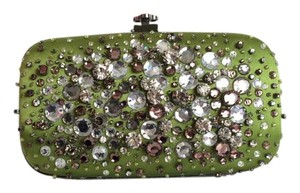 Oscar de la Renta Rhinestones Made In Usa green Clutch