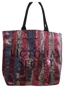 Victoria's Secret Pink Silver Black Beach Bag