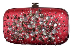 Oscar de la Renta Rhinestones Made In Usa Red Clutch
