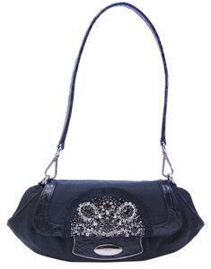 Prada Nylon Leather Evening Tessuto Skipper Formal Crystal Handbag Shoulder Bag