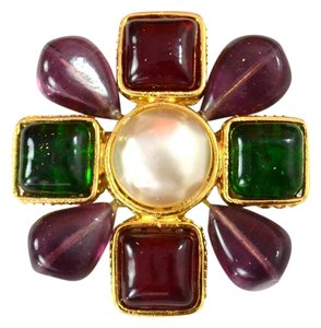 Chanel Chanel Multicolored Gripoix Brooch