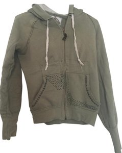 Free People Faded Stitched Green Jacket