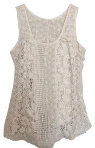 Lucky Brand Lace Top Cream