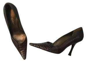 bebe brown snakeskin Pumps