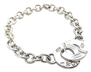 Tiffany & Co. Tiffany & Co 1837 Circle Lock Bracelet Sterling Silver 7