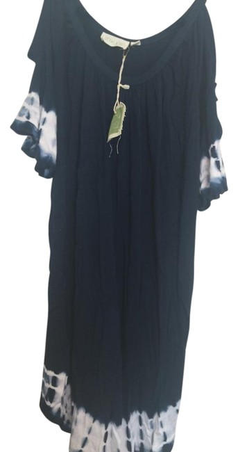 Item - Navy Tie Dye Sleeves Above Knee Short Casual Dress Size 2 (XS)