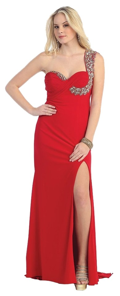 968974c0d72 May Queen Red Mq948 Long Formal Dress Size 4 (S) - Tradesy