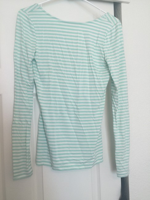 Hinge Striped Low Back Sweater