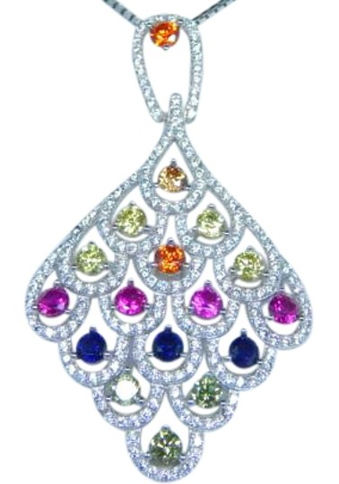 Preload https://img-static.tradesy.com/item/17834401/925-blue-pink-yellow-red-sterling-silver-rainbow-sapphire-in-diamond-shaped-chandelier-pendant-3mm-r-0-1-540-540.jpg