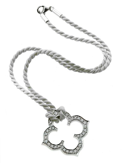 Cartier Cartier Quatrefoil Diamond White Gold Necklace