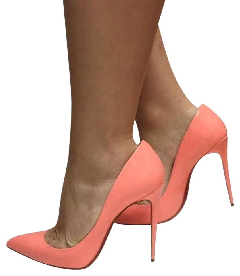 2fa869d9ac1 Christian Louboutin Peach Flamingo Charlotte So Kate Patent Leather Heel  120mm Pumps Size EU 37 (Approx. US 7) Regular (M, B) 17% off retail