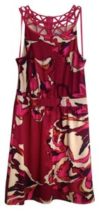 Antonio Melani short dress Fuchsia with cream, purple, and orange on Tradesy