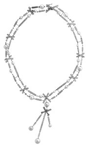 Chanel Chanel Matelasse Pearl, Diamond White Gold Necklace