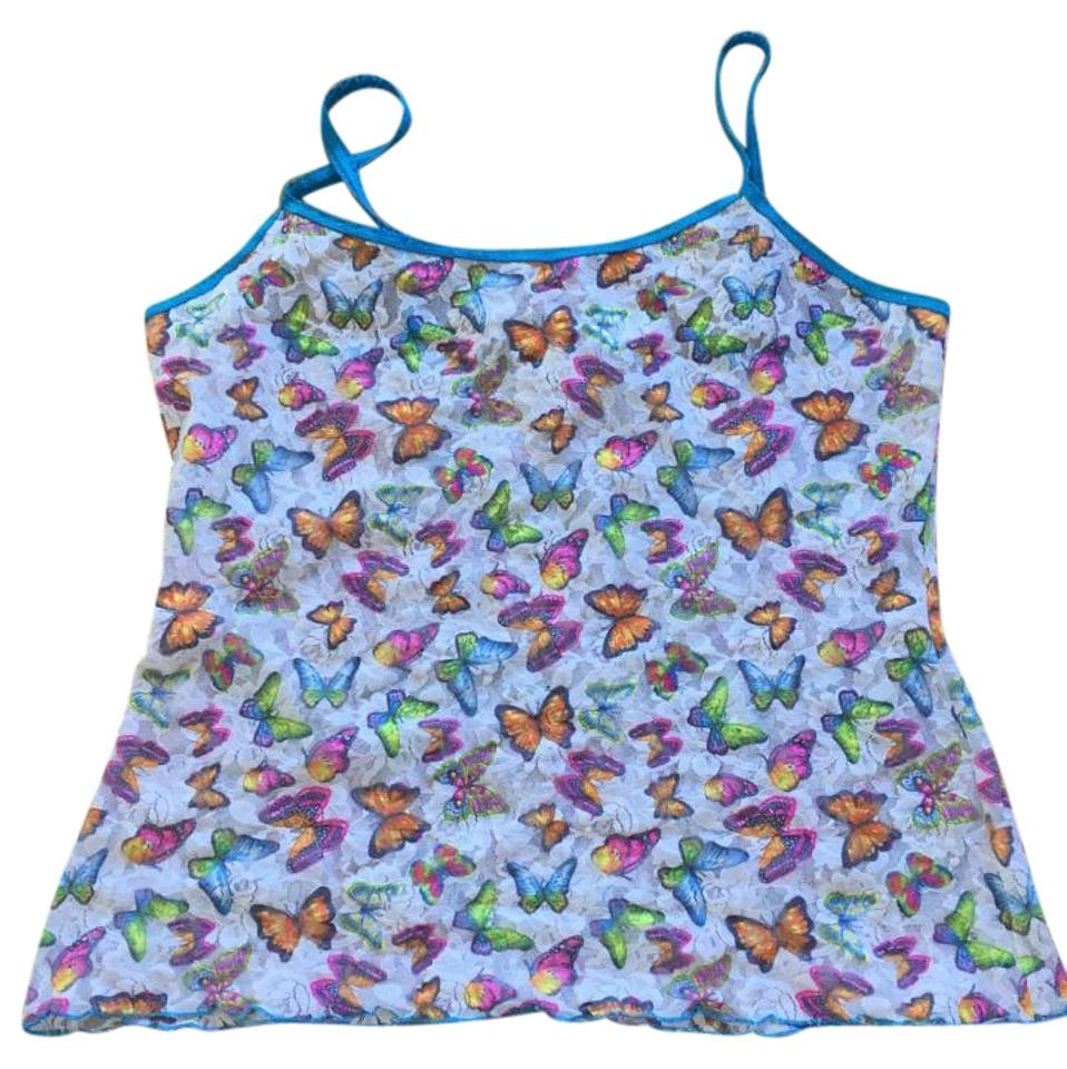 3dc328f943 Hanky Panky Multicolor Butterfly Camisole Tank Top Cami Size 12 (L ...