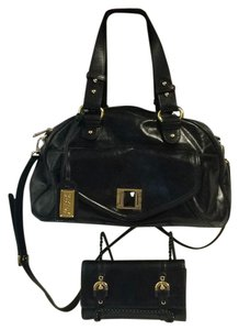 Badgley Mischka Leather Satchel in Black