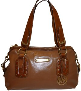 Michael Kors Refurbished Leather Satchel in Tan and Brown