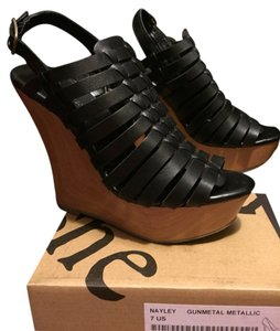 Mossimo Supply Co Black Wedges