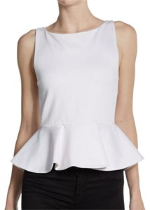 Alice + Olivia Work Cocktail Top White