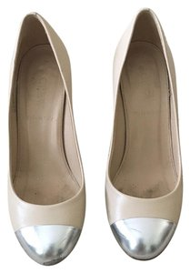 J.Crew Cream and silver Pumps