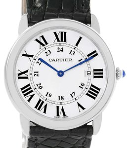 Cartier Cartier Ronde Solo Large Stainless Steel Black Leather Watch W6700255