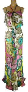 Multicolor Maxi Dress by Yoana Baraschi Maxi Silk Chiffon